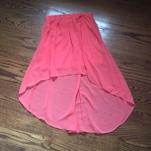 Never worn High low coral skirt